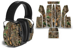 Sticker Wrap Decal Fits: Howard Leightning L3 Ear Shooting Muffs Skin WOODLAND $19.95