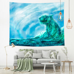 Sea Wave Tapestry Wall Hanging Wall Art Decor for Bedroom Living Room Dorm $14.71