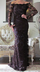EMILIO PUCCI Runway Full in LaceEmbellished Long dress It 40US 4-6UK 8XS-S