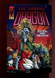 SAVAGE DRAGON 12(9.2)(NM-)AUTO ERIK LARSEN WCOA-1ST APP SHE DRAGON(b029)
