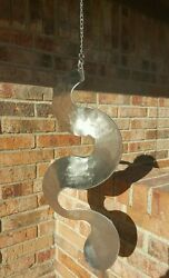 Abstract metal art spinning wind sail 316 grade stainless steel