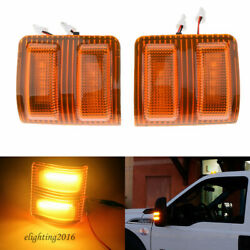 2Pcs Amber LED Towing Side Mirror Signal Light For FORD 2008 2016 Super Duty $18.99