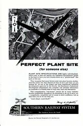 Vintage print ad Train 1956 Southern Railway System Perfect Plant Site someone $9.95