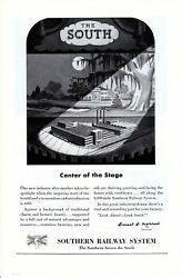 Vintage print ad Train 1949 Southern Railway System Center of the Stage South ad $9.95