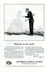 Vintage print ad Train 1948 Southern Railway System Welcome to the South Miss ad $9.95