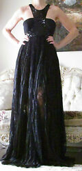 EMILIO PUCCI Runway SequinnedLace&ChiffonGauffretGown Dress It42US 6-8UK 10