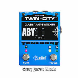 Radial Twin City Bones ABY Amp Switcher Pedal A B Y!