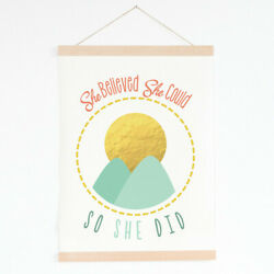 Children Inspire Design She Believed She Could So She Did Tapestry Wall Hanging