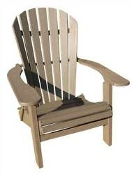 Phat Tommy Recycled Poly Resin Folding Deluxe Adirondack Chair in Wea [ID 89308]