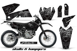 Decal Graphic Kit Wrap + Number Plates KTM EXCSXMXCSMRXCF-W 2005-2007 HISH S
