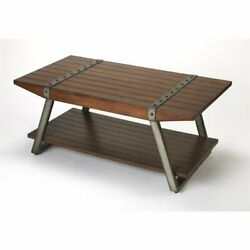 Butler Specialty Industrial Chic Coffee Table in Sienna Brown
