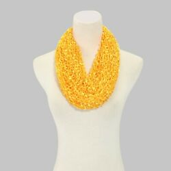 solid confetti infinity loop circle spring and summer scarf. knit. $2.99