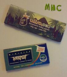 2 Book Variety Set! Clear Transparent Cellulose Cigarette Rolling Papers!