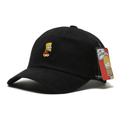 Licensed Unisex Mens The Simpsons Bart Simpson Baseball Cap Trucker Hats Black