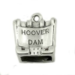 Hoover Dam Colorado River Nevada And Arizona 3D .925 Sterling Silver Charm
