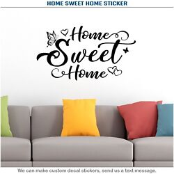 Home Sweet Home Heart Butterfly Wall Room Quote Sticker Art Vinyl Decor Decal 18 $13.99