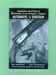 Browning Model A5 12 amp; 20 MAGNUM 1970#x27;s Owners Instruc Manual Reproduction $11.95