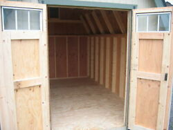 Little Cottage Company Colonial Greenfield Wooden Storage Shed