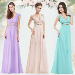 Ever-Pretty US V Neck Chiffon Formal Prom Party Ball Summer Holiday Dress 08697