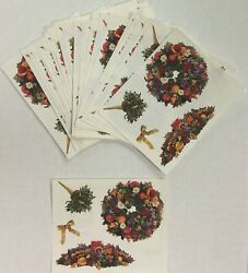4 Sheets Mrs Grossman HOLIDAY DECORATIONS CHRISTMAS Stickers Vintage 2001 $2.25