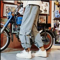 2019 Mens Trend Summer Casual Pants Loose Students Hip Hop Sports Pants Trousers $22.46