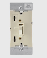 New LEVITON Light Almond Universal Toggle DIMMER SWITCH 600 Watt TSL06 1KT