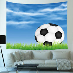 Soccer Tapestry Wall Hanging Football Home Art Wall Decor for Living Room $11.95
