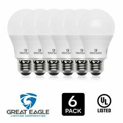 Great Eagle 100W Replacement Dimmable A19 LED Bulb Cool White 1600 Lms 4000K $14.95
