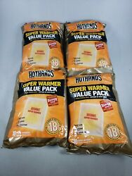 4  HotHands Body & Hand Super Warmer Pkgs of 10 Each - 40 Pieces Up To 18 Hrs