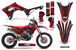 Decal Graphic Kit Sticker Wrap + # Plates For Honda CRF450X 2019+ZOOTED-RED-BK