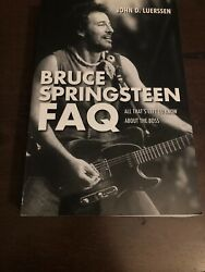 Signed Bruce Springsteen Faq the Boss John D. Luerssen Hologram COA