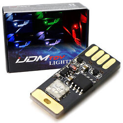 Touch Control RGB MultiColor Plug-In Miniature LED Interior Ambient Lighting Kit