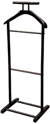 MenS Valet Stand Suit Rack Coats Clothes Wooden Hanger Organizer Shaker Style