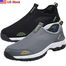 Mens Quick Dry Non-slip Water Shoes Beach Board Camping Walking Sneaker US Stock