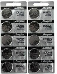 10 FRESH Genuine Energizer CR2025 ECR2025 3V Coin Button Batteries Fast Shipping