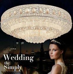 Round chandeliers 3 color LED Flush Mount K9 clear crystal bedroom ceiling lamps $539.00