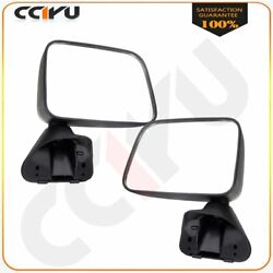 Manual Side View Mirrors Pair for 1987 1988 1989 Toyota Pickup 4Runner wVent