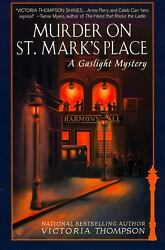Murder on St. Mark's Place: A Gaslight Mystery  (ExLib) by Thompson Victoria