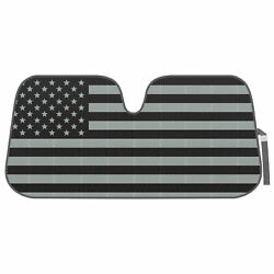Auto Sun Shade Black Flag Front Window Windshield Protector for Car Truck SUV $13.50