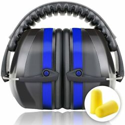 Ear Muffs Hearing Foldable Noise Reduction Protection Gun Shooting Range US Blue