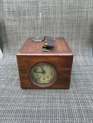 Antique Mechanical Seven Jewel Pigeon Race Timer Clock With Paper By Benzing Ger