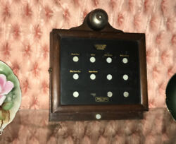 Antique Early Electric Holtzer & Cabot Servant Butler Annunciator c. 1916