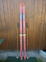 Ready to Use Cross Country 79quot; Long BONNA 205 cm Skis Poles $39.98
