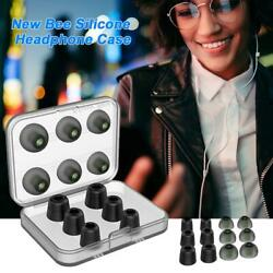 New Bee Noise Isolating Memory Foam Ear Tips S M L Size Silicone Earmuffs+Box
