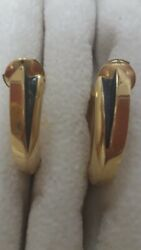 cartier earrings 18K gold panther collectionwith box