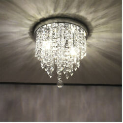 Modern Chandelier Crystal Glass LED Ceiling Light Fixture Lighting Hanging Lamp
