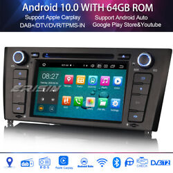 Car stereo Sat nav Android 9.0 for BMW 1 Series E81 E82 E88 WIFI+GPS SWC 8-Core