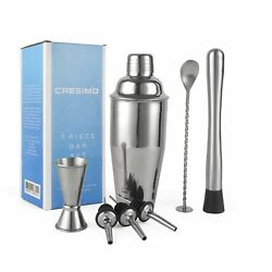 24 Ounce Cocktail Shaker Bar Set with Accessories Martini Kit with Measurin... $23.95