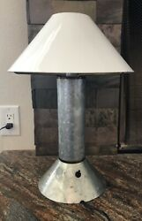 Ron Rezek quot;Zinkquot; Brass Table Lamp Zinc Brass Vintage 80#x27;s Contemporary Rustic  $540.00