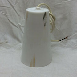 Vintage Light Fixture Glass White amp; Gold Shade $65.00